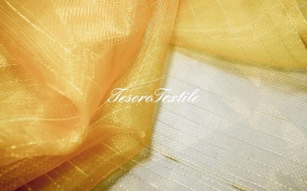 Ткань для штор Вуаль CASA DEL VELO цвет золотой