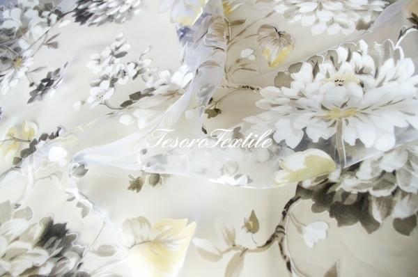 Ткань для штор Органза CASA DEL VELO цвет бежевый