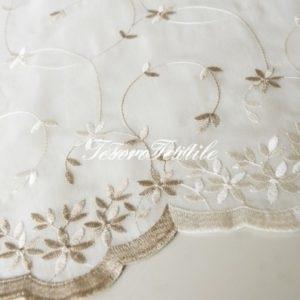 Ткань для штор Органза CASA DEL VELO цвет бежево-молочный