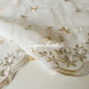 Ткань для штор Органза CASA DEL VELO цвет охра-бежевый