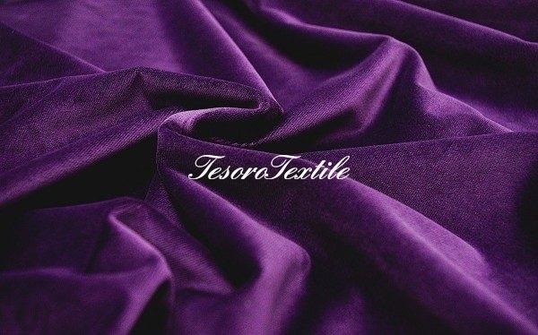 Ткань для штор Бархат FIORI цвет фиолетовый