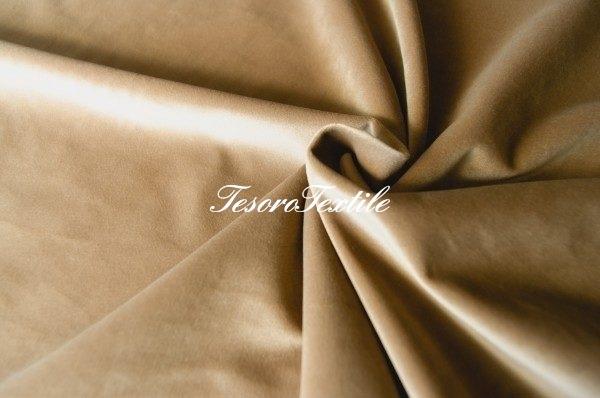 Ткань для штор Бархат GELIN GARDEN цвет песочный