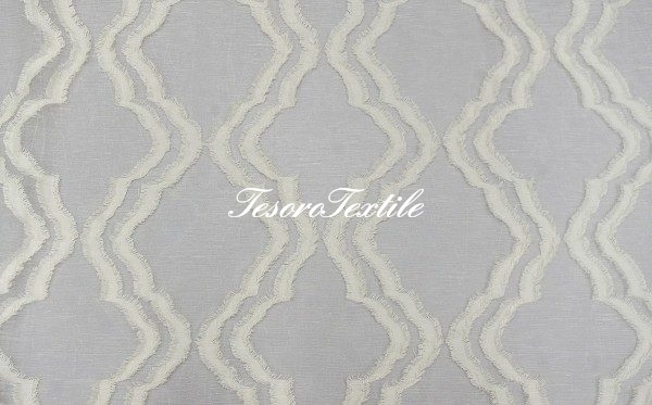 Ткань для штор Вуаль SCANDINA цвет молочный