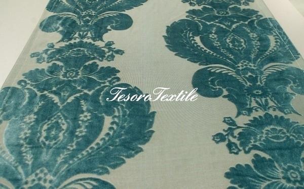Ткань для штор Бархат SCANDINA цвет голубой