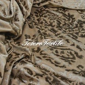 Ткань для штор Жаккард SCANDINA цвет светло-коричневый