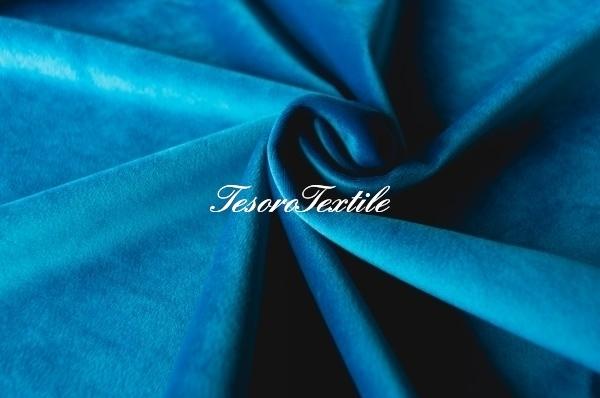 Ткань для штор Бархат VELOURS цвет морская волна
