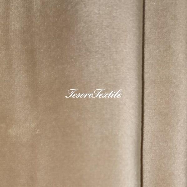 Ткань для штор Бархат Alice ширина 300см цвет Светлый песок